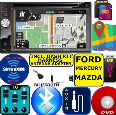FORD MERCURY MAZDA NAVIGATION Radio Stereo Installation Double Din Dash Kit CD