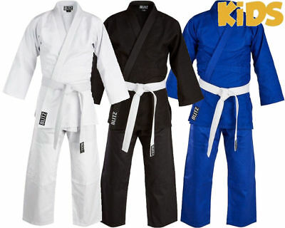 Blitz Kids 100% Cotton Student Judo Suit 450gsm  Judo Club Training uniform