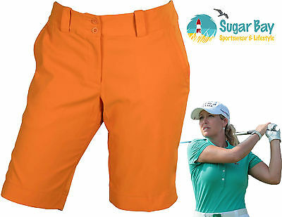 Nike Golf Ladies Long Shorts Modern Rise Sporty Short Turf Orange Inside Leg 11""
