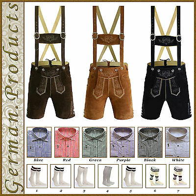 German Bavarian Oktoberfest Trachten Package Set Lederhosen,Shirt,Shoes,Socks GP