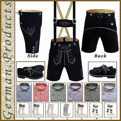 Authentic German Bavarian Trachten Oktoberfest Short Lederhosen Package / Set