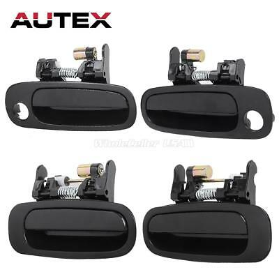4pcs For 98-02 TOYOTA COROLLA Black Exterior Door Handles Front Rear Left Right