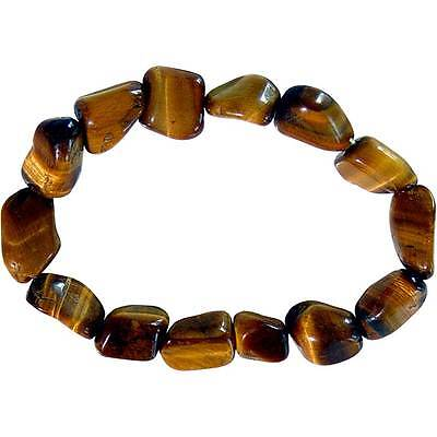 Tiger's Eye Tumbled Stone Bracelet!