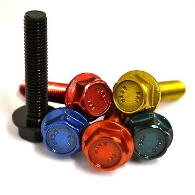 M5 GWR Colourfast® Hexagon Flanged Bolts - A2 Stainless Coloured Hex Flange