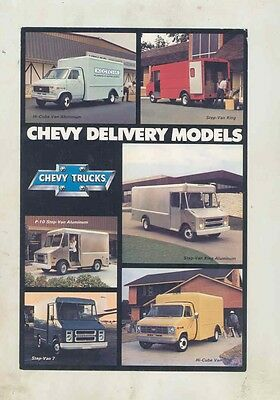 1979 Chevrolet Hi-Cube King Step Van ORIGINAL Large Factory Postcard my5224
