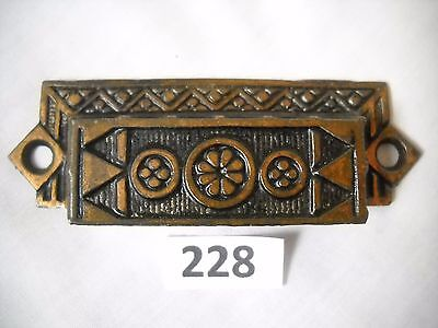 Antique Cast Iron Bin Drawer Pull Eastlake Style