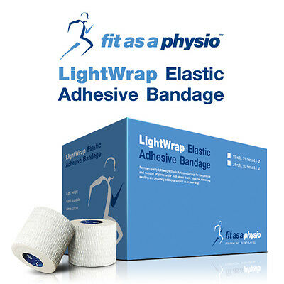 50mm Hand-Tearable Elastic Adhesive Bandage EAB Sports Strapping Tape | 2 Rolls