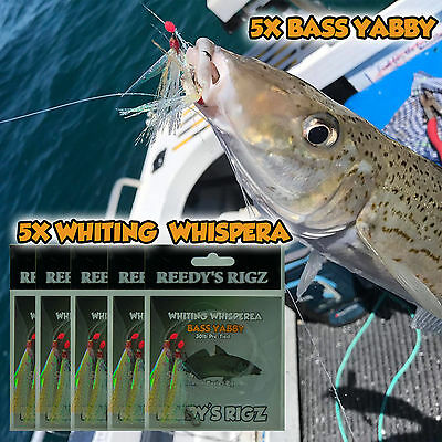 5 whiting Rig Paternoster Sze 4 hook Fishing Rigs Live Lure Bait Flasher Blood