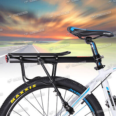 Aluminum Bicycle Cycling Rear Carrier Pannier Rack Seat Post Quick Release Bike