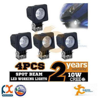 Sunyee 4x 10w Cree Led Work Light Bar Spot 870lm Modular Lamp