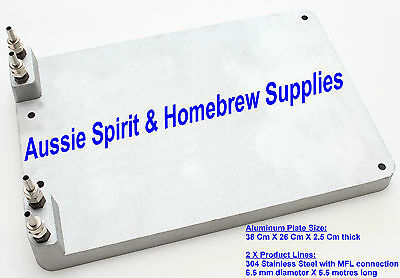 Brand New Cast Aluminium Cold Plate Double Circuit Home Brew Miracle Jockey Box