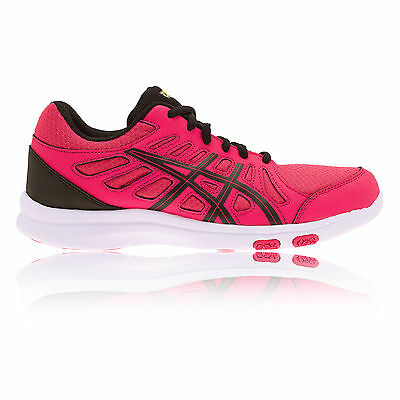 ASICS Womens AYAMI-SHINE Pink Gym Cross Training Running Trainers Pumps Shoes