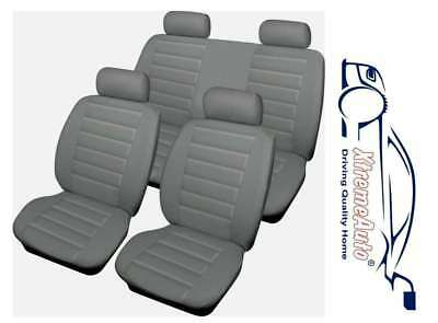 Bloomsbury Beige Leather Look 8 PCE Car Seat Covers For VW Bora Golf Polo Passat