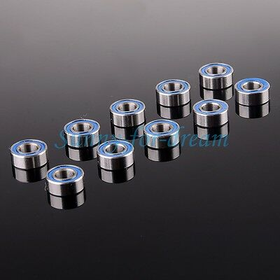 5*10*4mm Blue Rubber Sealing MR105ZZ Ball Bearing 10PCS