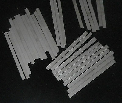 LOT OF TWELVE (12) THIN OPAQUE ALUMINA CERAMIC SHIMS SUBSTRATE PLATE No.: 509