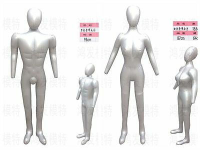 Inflatable mannequins model woman man body to take the lead with hand mannequins