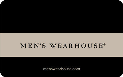 $25 Men's Wearhouse Physical Gift Card - Standard 1st Class Mail Delivery