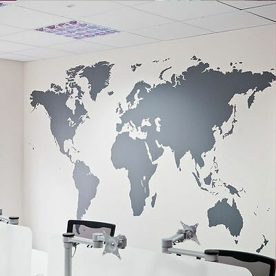 Large World Map Wall Stickers Removable Art Mural Vinyl Quote Home Office Decor