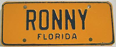 """1950's 1955 ? STATE of FLORIDA BICYCLE LICENSE PLATE """"RONNY"""" BIKE TAG"""