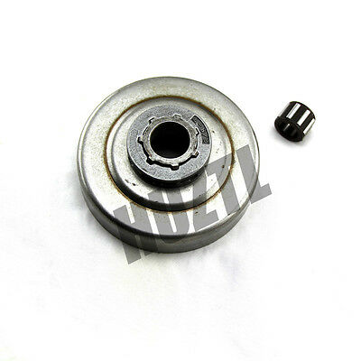 """3/8""""-7T Clutch Drum Chain Sprocket Rim + Bearing For STIHL MS360 034 036 036PRO"""