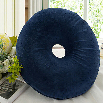 Ring Donut Cushion Memory Foam  Pressure Relief Hemorrhoids Piles Washable Cover