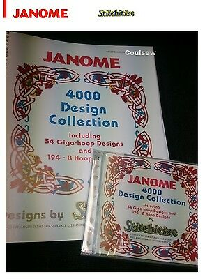 Genuine Stitchitize 4000 Embroidery Design Collection CD & Book Fits All Janome
