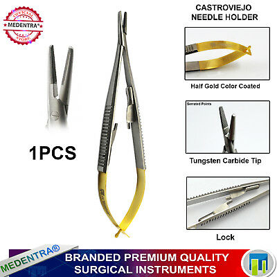 Clinical Surgical Castroviejo Driver Needle Holder Suture Forceps Pliers TC Tip