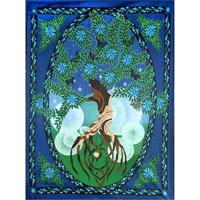 Tree of Life Cotton Tapestry, Wall Hanging!