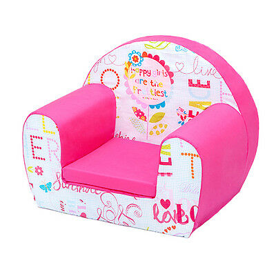Hello There Childrens Kids Comfy Foam Chair Toddlers Armchair Seat Girls Reading