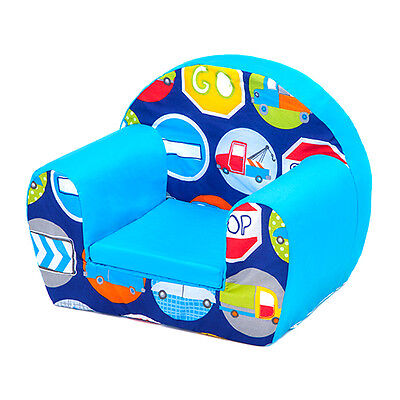 Road Signs Childrens Kids Comfy Foam Chair Toddlers Armchair Seat Boys Reading