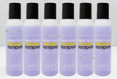 LOT 6 - OPI Expert Touch Lacquer Remover 4oz/120ml Nail Polish Gel Removal
