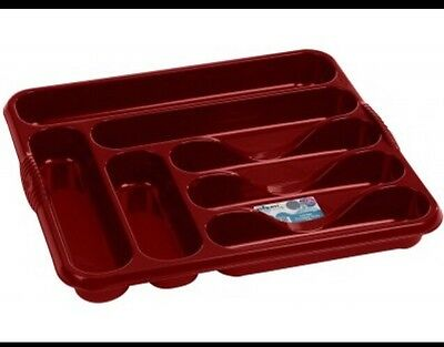 large cutlery tray Red