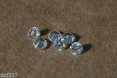 MASSIVE SALE-  Loose WHITE Cubic Zirconia Stones.1.5mm to 3.75mm Round-Cut.