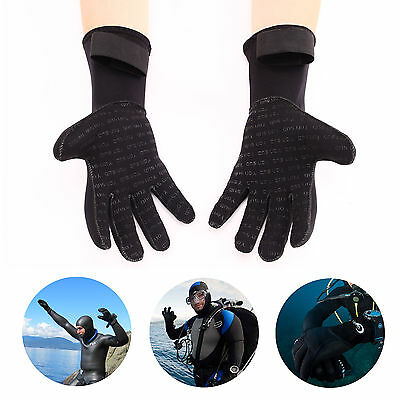 Adult 3MM Neoprene Swimming Diving Surfing Wetsuit Gloves Skid-proof S M L XL