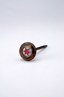 Antique Victorian Red Star Picture Nail Hanger 1800's AH08231507