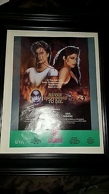 Never Too Young To Die Gene Simmons Vanity Rare Original Promo Poster Ad Framed!