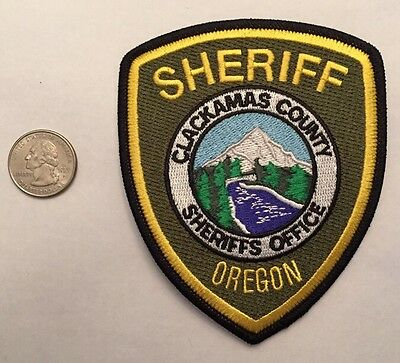 Clackamas County Oregon Sheriffs Office Police Patch Or