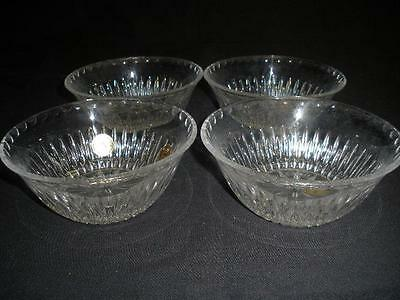 Stunning 24% Lead Crystal Sweets Dishes X 4 Princess House Usa