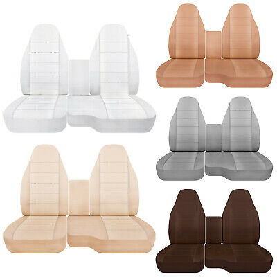Amazing Car Seat Covers 60 40 Seat Console Cover Solid Colors Fits Lamtechconsult Wood Chair Design Ideas Lamtechconsultcom