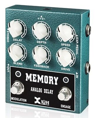 Xvive W3 Memory Analog Delay Pedal - New