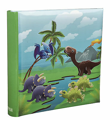Kids Cute Dinosaurs Scene Slip In Memo  Photo Album' 6x4' For 200 Photos-AL-9155