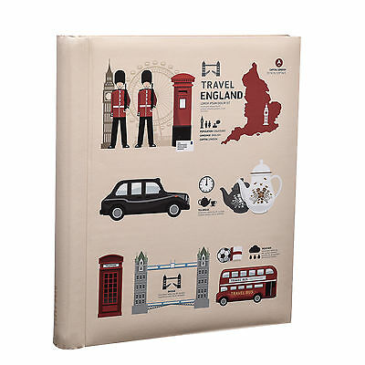 Large London Icons Travel Self Adhesive Photo Album 20/Shee/40sides- AL-9162