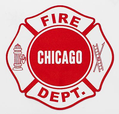 """Chicago Fire Department Decal Maltese 4"""""""
