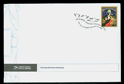 USA #3942 2005 37c Let's Dance Mambo Stamp First Day Ceremony Program