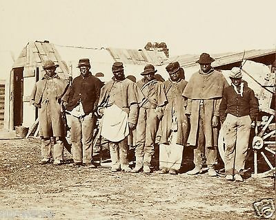 African American Men, Former Slaves, in old Union uniformsThe -Contrabands -1861