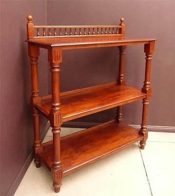 CEDAR ~ SPINDLE GALLERY 3 TIER Dumbwaiter BUFFET DINING SERVERY dumb waiter