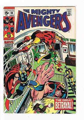Avengers # 66  Early appearance of Ultron !  grade 7.5 Movie scarce book !