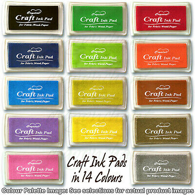 Rubber Stamps Craft Ink Pad for Paper Wood Fabric 15 Colours UK