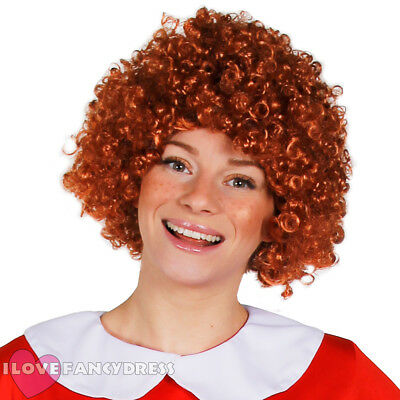 Auburn Afro Wig Short Curly Orange Ginger Hair Musical Film Fancy Dress Costume