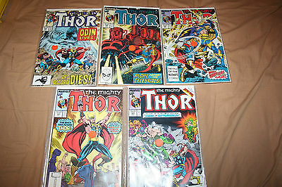 Lot of 5 - THE MIGHTY THOR #383, 384, 386, 388, 399